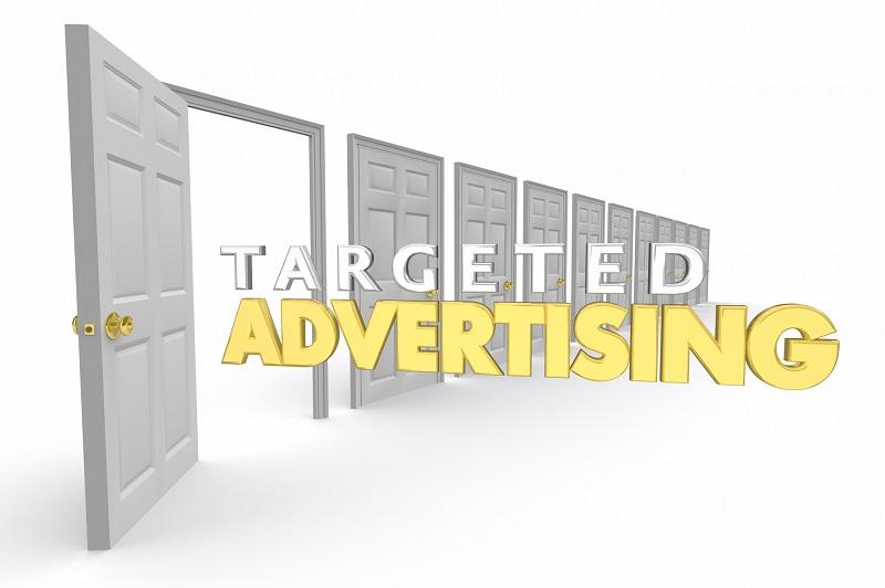 Targeted Advertising Open Doors Marketing New Customers 3d Render Illustration